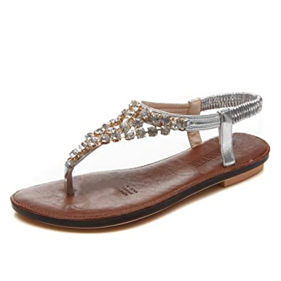 DameSommerFlip Flop Sandalen Pure Color Fashion Sandalen