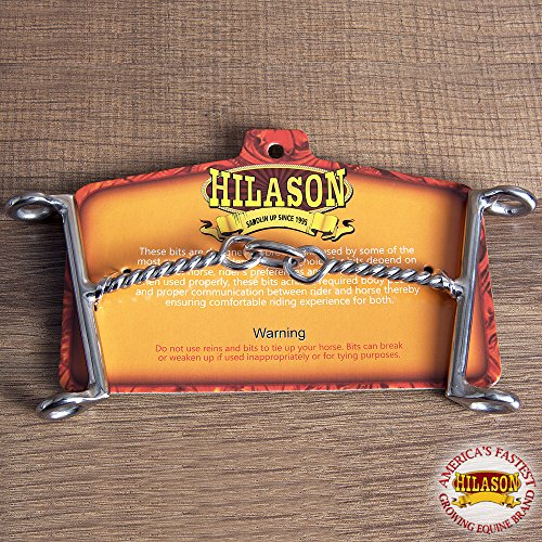 HILASON WESTERN HORSE MOUTH STAINLESS STEEL DRAW GAG BIT ()