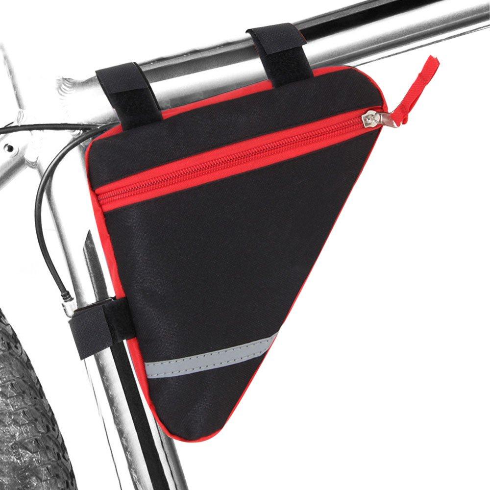 Bolsa Triangular de Tubo Delantero de Bicicleta Rojo FULARR Bolsa Tri/ángulo De Bicicleta Bolsa Marco Bici Impermeable La Decoraci/ón Reflectante A Doble Cara Hace Que La Noche Sea M/ás Segura