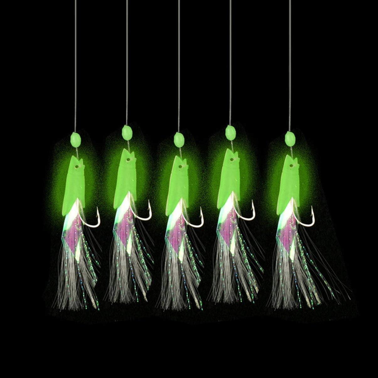 FHJZXDGHNXFGH-IT Esca Morbida per Pesca a sciabola Sabiki Esca Luminosa a Forma di Testa di Pesce