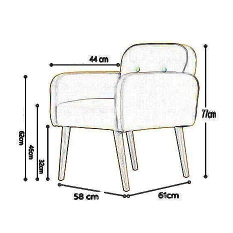 Amazon.com : CJC Chairs Upholstered Linen Fabric Sofa Tub ...