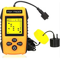 $40 » OVETOUR Portable Fish Finder Wired Handheld Sonar Fishfinder LCD Display with Water Depth,…