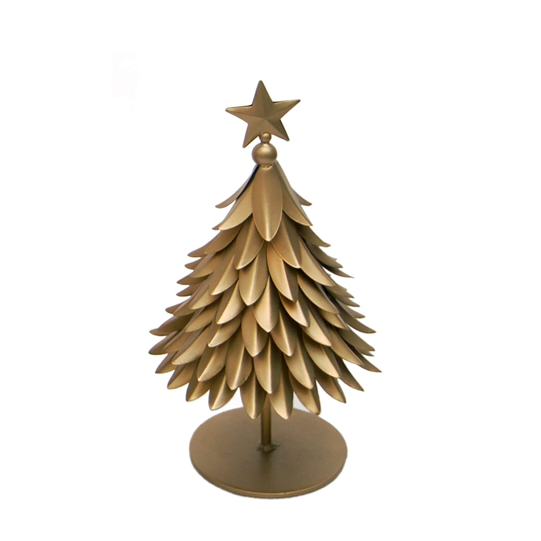 Amazon Com Esca Di Luce Metal Tabletop Christmas Tree Figurine