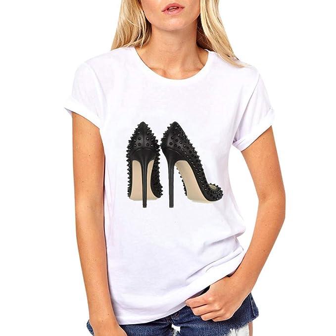 Amazon.com: iPOGP - Camiseta de verano para mujer, de ...