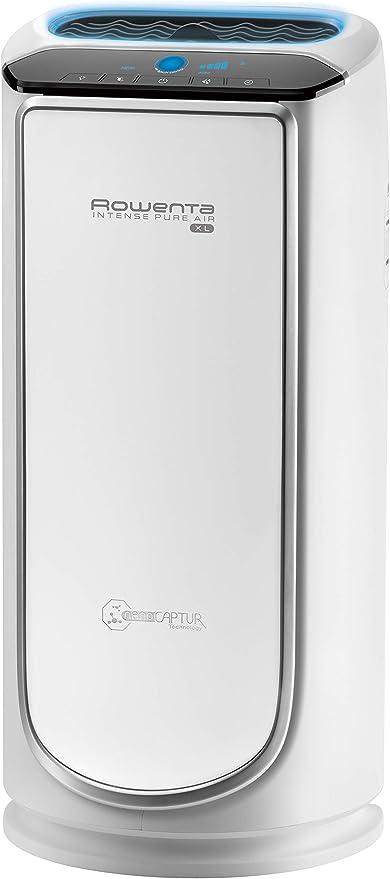 Rowenta Intense Pure Air PU6020 Purificador de Aire XL, para Habitaciones hasta 120 m², con sensores contaminación y 4 Niveles de filtración, 75 W, 4 Velocidades, Plata, Blanco: 251.49: Amazon.es: Hogar