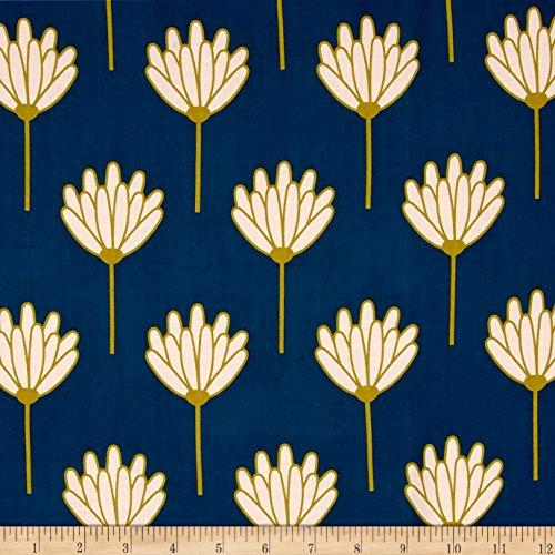 Art Gallery Fabrics Blush Rayon Challis Floret Fabric by the Yard, Sunkissed by Art Gallery Fabrics