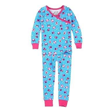 207d73c90 Amazon.com  PLove Kids Two Piece Organic Cotton Pajamas for Girls ...