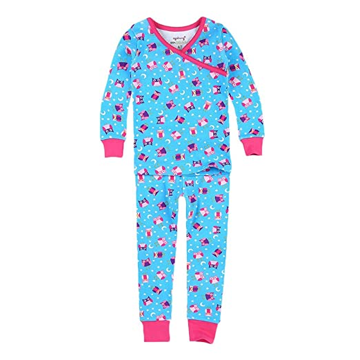 e9eca8b477ae Amazon.com  PLove Kids Two-Piece Organic Cotton Pajamas Little Girls ...