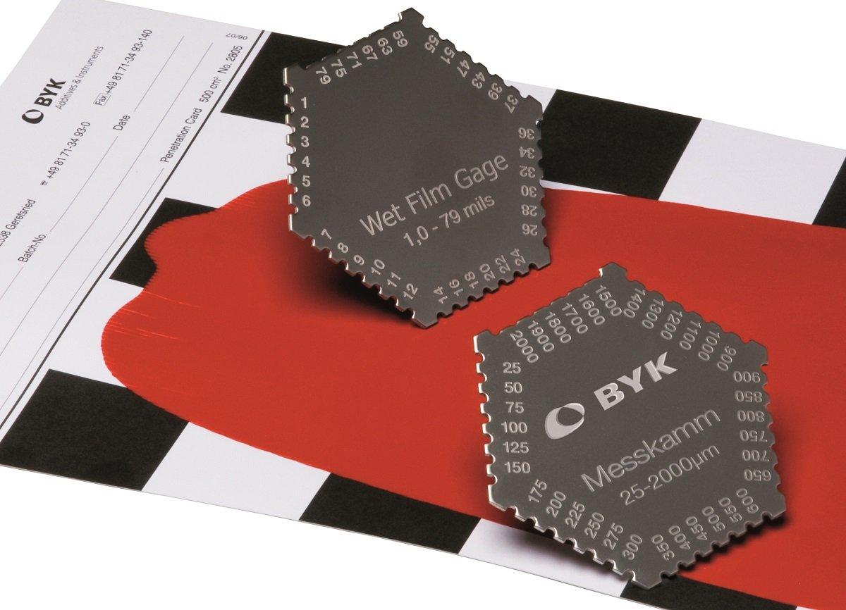 BYK-Gardner 3505 Film Thickness Comb Type Gage 1-80 mil Measuring Range 90 mm Outer Diameter