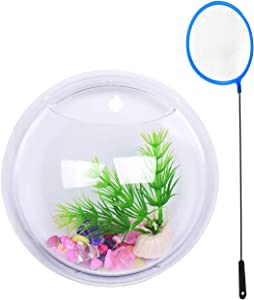 Eyourlife Wall Water Garden, Wall Mount Hanging Planting Bowl Acrylic Flowerpot Home Decor Plant Hanger 5.9 Inches Decoration Planter