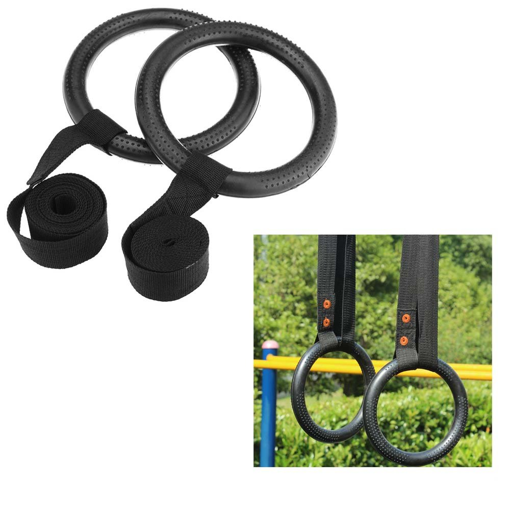 (Ship from US) Shoulder Strength Training Rings GYM Gymnastic Portable Rings by Neolifu