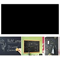 Angel Bear (45X200 cm) Black Board Wall Sticker Removable Decal Chalkboard with 5 Chalks for Home School Office College Room Kitchen Kids