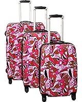 Dejuno Pop Art Lightweight Hardside Luggage Set