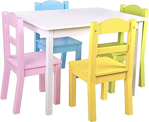 Pidoko - Juego de Mesa y sillas para niños, 4 sillas y 1 Mesa de ...