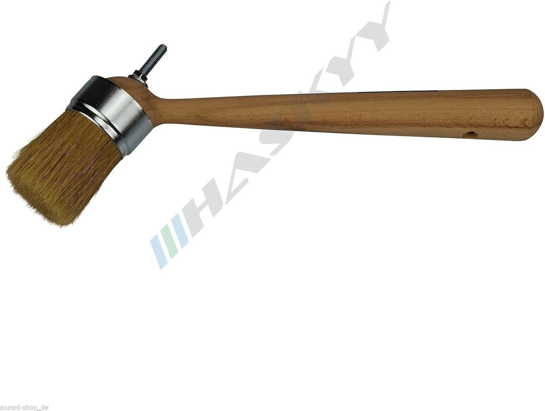 1 Pinsel Pasta Montaggio Pneumatici Pasta Corto 20,5cm Rotondo Angolo Cera Montaggio Pkw