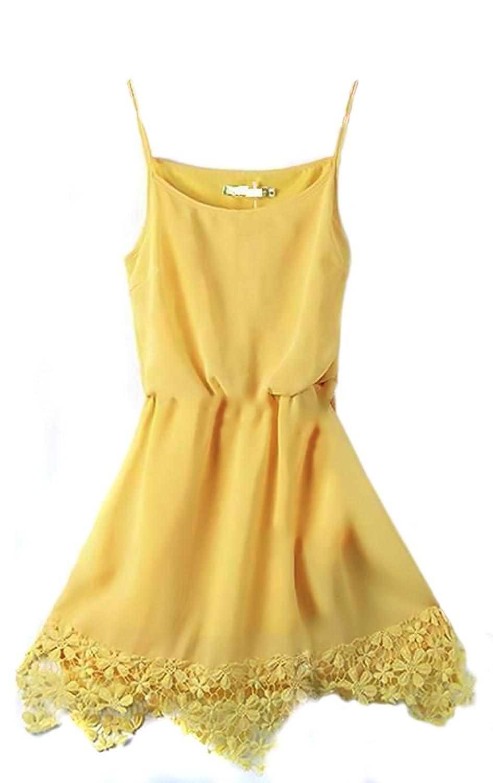 Kleine Sommerkleid Simona - Gelb Large