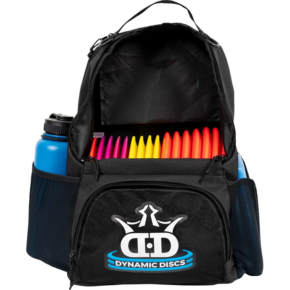 Dynamic Discs Cadet Disc Golf Backpack | Black/Black | Frisbee Disc Golf Bag with 17+ Disc Capacity | Introductory Disc Golf Backpack | Lightweight and Durable ... by D·D DYNAMIC DISCS