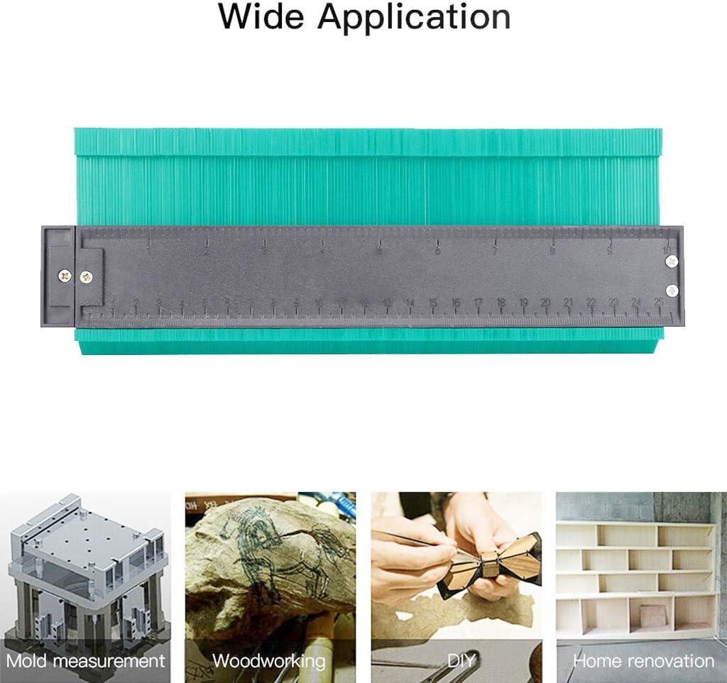 Gray MSOO Copy Duplicator,10Inch Plastic Contour Copy Duplicator Circular Frame Profile Gauge Tool