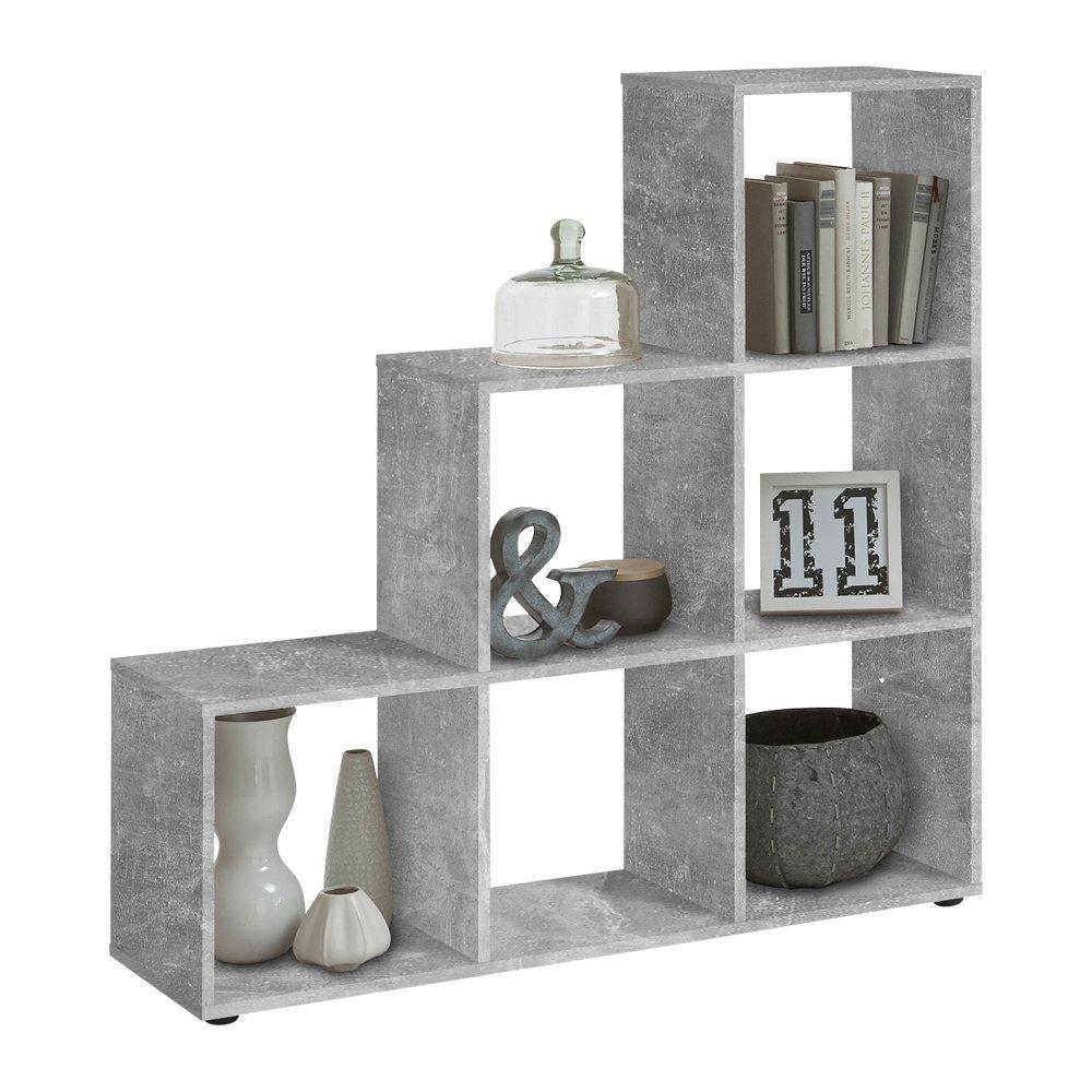 Unbekannt FMD Möbel MEGA 1 Raumteiler, Holz, Grau, 104.5 x 33 x 108 cm