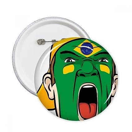 DIYthinker Brasil Bandera Nacional máscara facial Pintura de ...