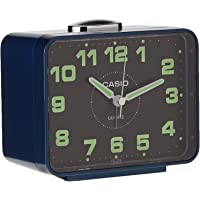Casio TQ-218-2D Desk Alarm Clock, Blue, TQ-218-2DF