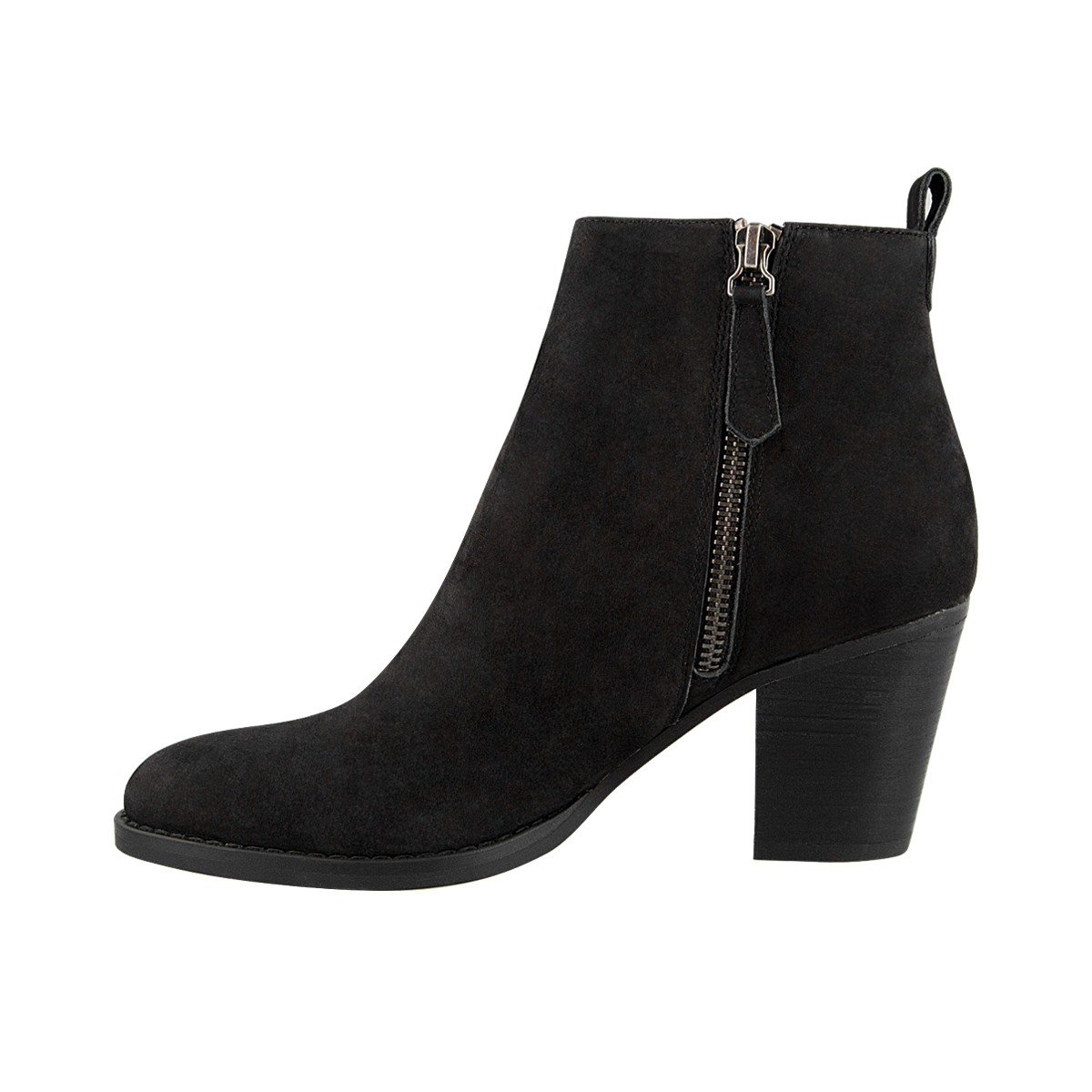 Tony Bianco Lance Ankle Boots Womens Boots with Chunky Woodstack Heels and Round Toe