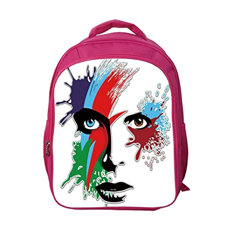 bf51f65d0177 iPrint School Bags Kid's Backpacks Custom,David Bowie Decor,Bowies Eyes  Ziggy Stardust Expression