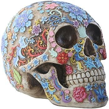 Amazon Com Day Of The Dead Dod Tattoo Sugar Skull Head