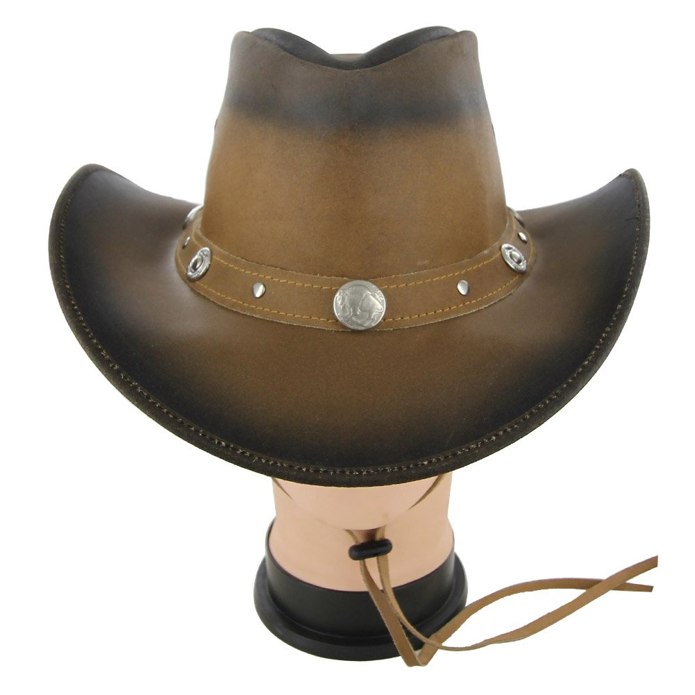 Leather Buffalo Nickel Prairie Dog Hat