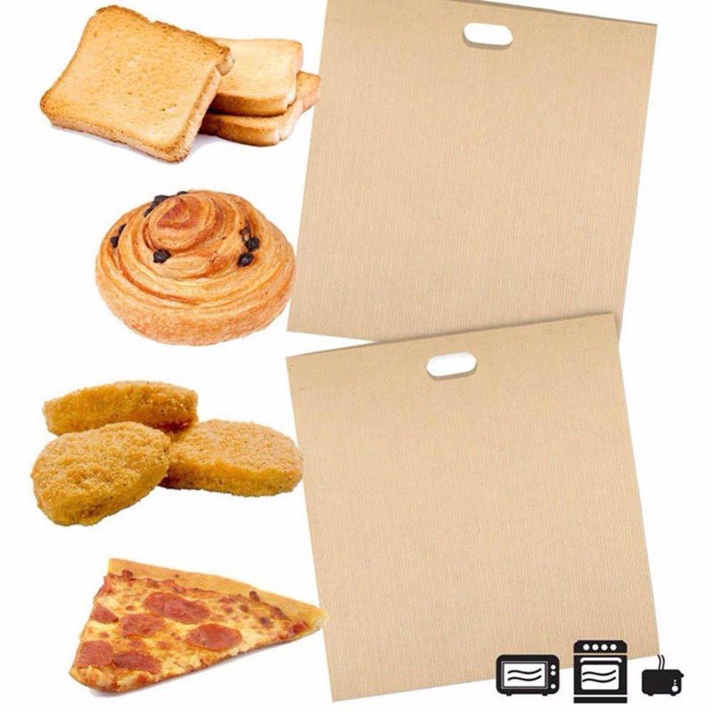 ... tostadora bolsas juego de 6 - pefe revestimiento de fibra de vidrio resistente al calor para almuerzo para pizzas, sándwiches, nuggets de pollo, ...