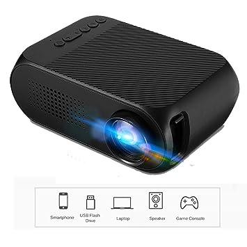 Twinyuan Projector Mini proyector portátil 600 lúmenes Soporte ...