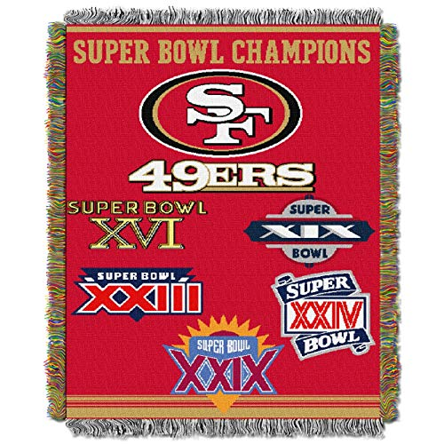 Northwest San Francisco 49ers Super Bowl Commemorative Throw