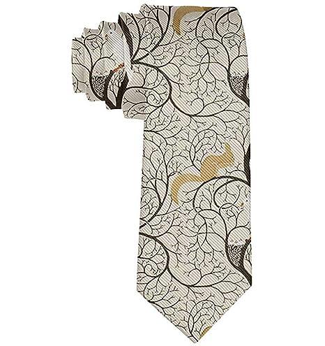 Corbata de moda para hombre Ardilla y corbata de pájaros Corbata ...