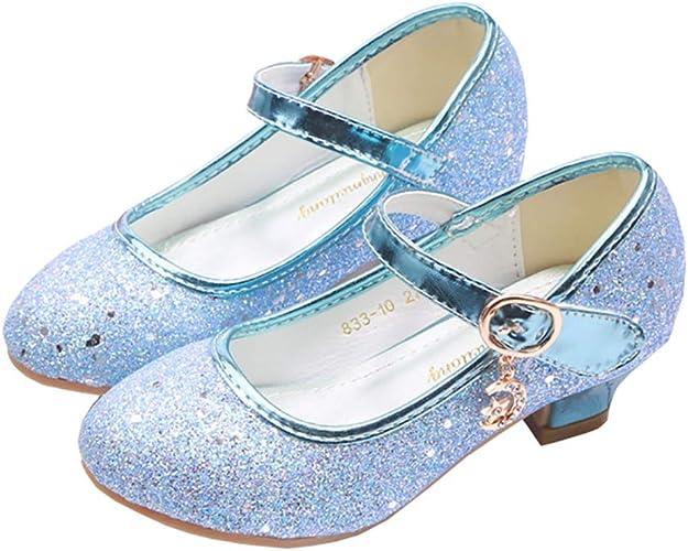 XinYiQu Girls Low Heels Girls Dress