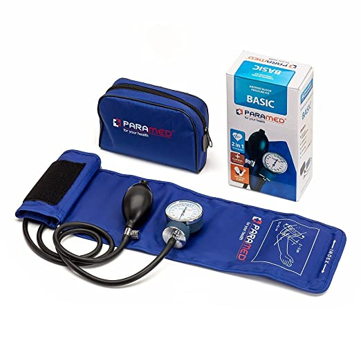 Amazon.com: Professional Manual Blood Pressure Cuff – Aneroid Sphygmomanometer with Durable Carrying Case by Paramed – Lifetime Calibration for Accurate ...