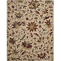 Safavieh Jardin Collection JAR457A Handmade Beige and Multi Premium Wool Area Rug (8 x 10)