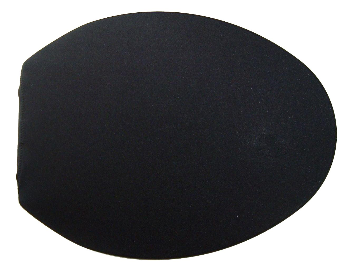 Spandex Fabric Cover for a lid Toilet SEAT fits on Round & Elongated Models - Handmade in USA (Black) by NCC New Concept Cover