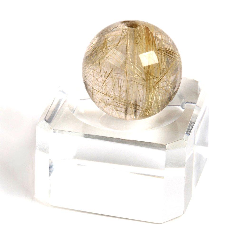 【京珠堂】極上 5A ルチルクォーツ 天然石 1粒 (14~15mm) B00PC00U6W