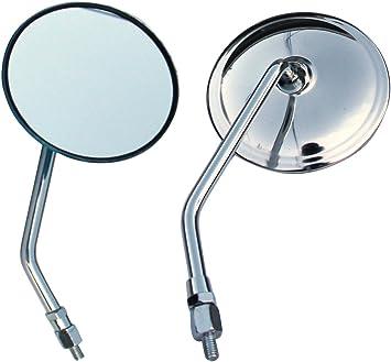 8mm Chrome Round Rear View Mirrors For Honda CX500 CX500C CX500D CX500TC
