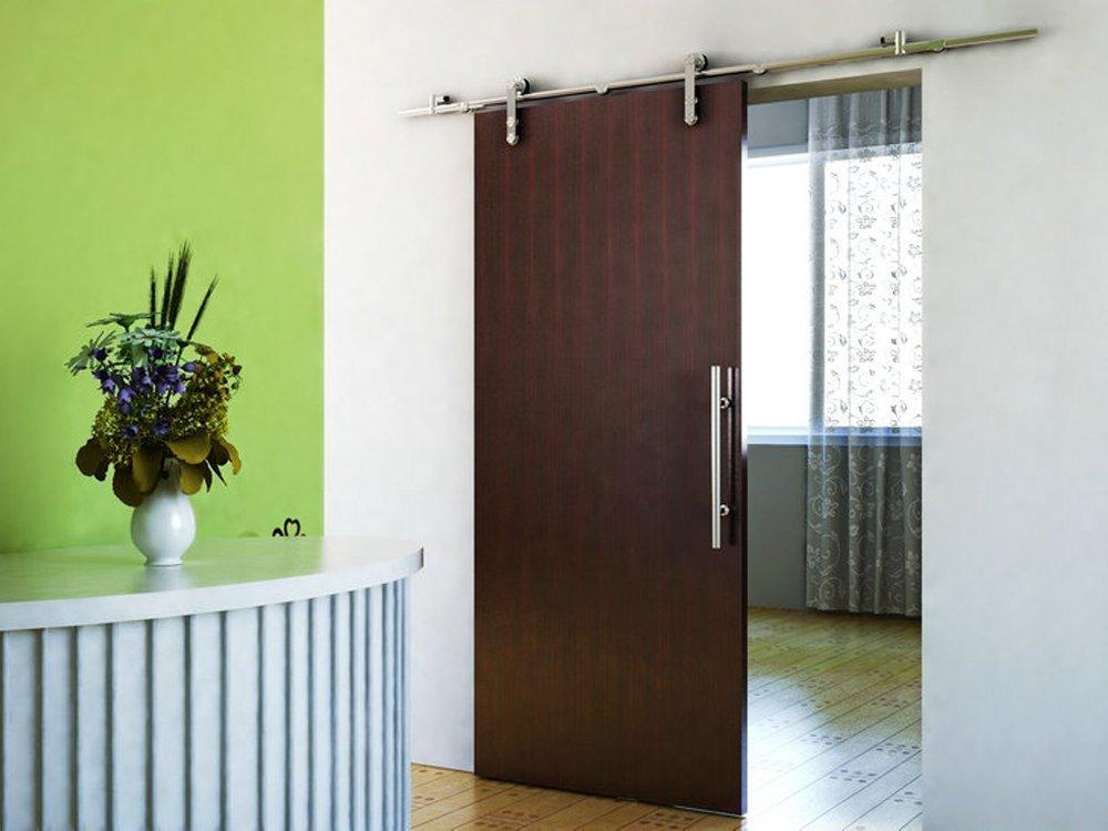 door fss brushed wood stainless steel hardware bd dp nickel modern sliding amazon com bathroom satin barn