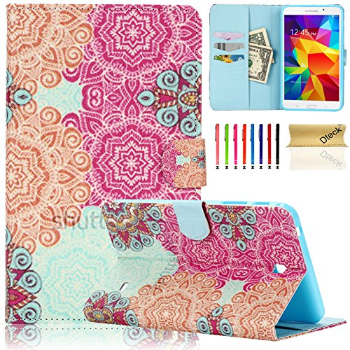 Tab 4 7.0 Case (T230 Case), Dteck(TM) Colorful Fancy PU Leather Magnet Design Case Flip Stand Wallet Cover with Cards Slots for Samsung Galaxy Tab 4 7.0