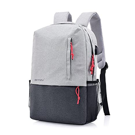 f17b46bd40f0 Amazon.com : WHYHWB Backpacks Fashion Leisure Double Color Shoulder ...