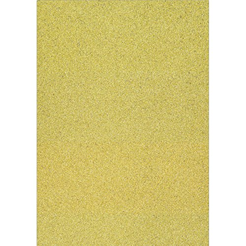 Craft Consortium AFGCRD002 Always and Forever - Cartulina de Purpurina (A4, 10 Unidades), Color Dorado
