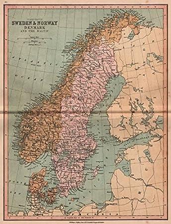 SCANDINAVIADenmark Shown Without North SchleswigNorway Sweden - Norway map amazon