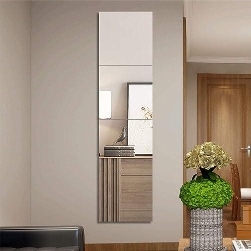 Vaabee Full Length Decorative Mirrors Frameless Tiles for for Wall Decror Living Room Door Bathroom Bedroom Gym Medern Home Decartions Tall