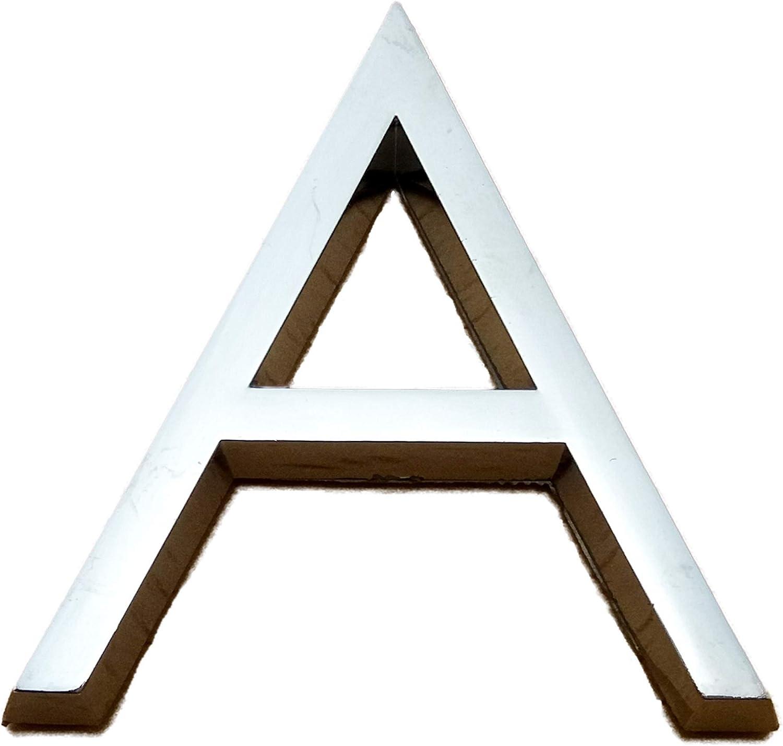 3D Silber 5 cm gro/ß Selbstklebende Chrom-Buchstaben