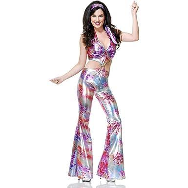 Amazon Womens Groovy Disco Girl 70 Dance Costume Clothing Women