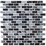 #8: RoomMates Traditional Marble Peel and Stick Tile Backsplash, 4-pack 10.5