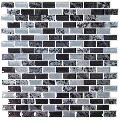 RoomMates Traditional Marble Peel and Stick Tile Backsplash, 4-pack 10.5'' X 10.5'' by RoomMates