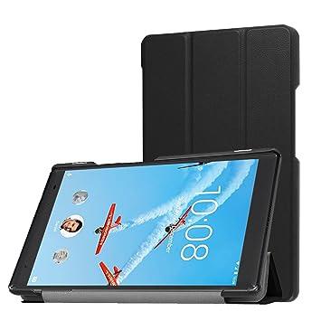 Gosento Lenovo Tab4 8 Plus ケース 高品質 開閉式三つ折薄型スタンドケース PU